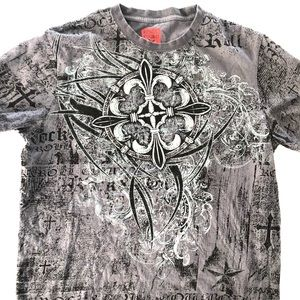 Rock & Roll Cowboys Men's Graphic Shirt Size Med